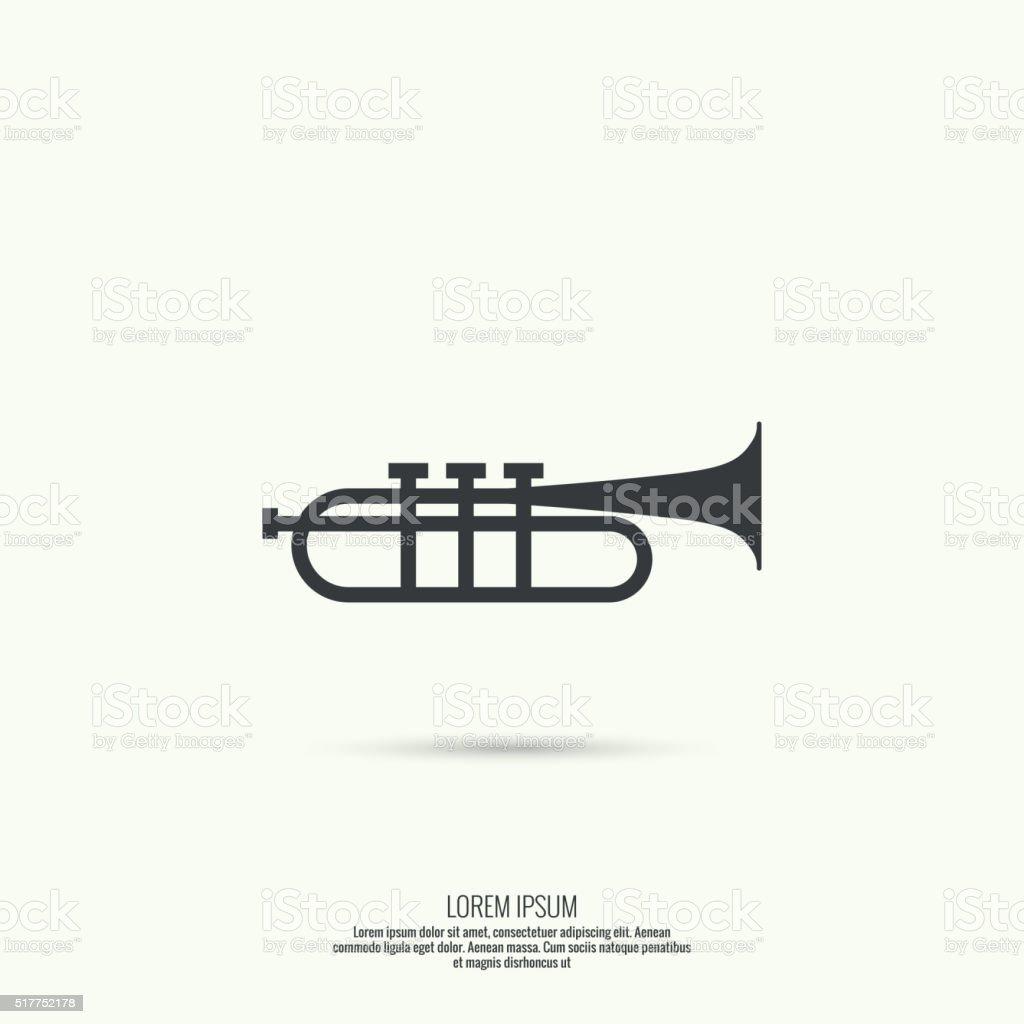 trumpet line icon vector. vector art illustration