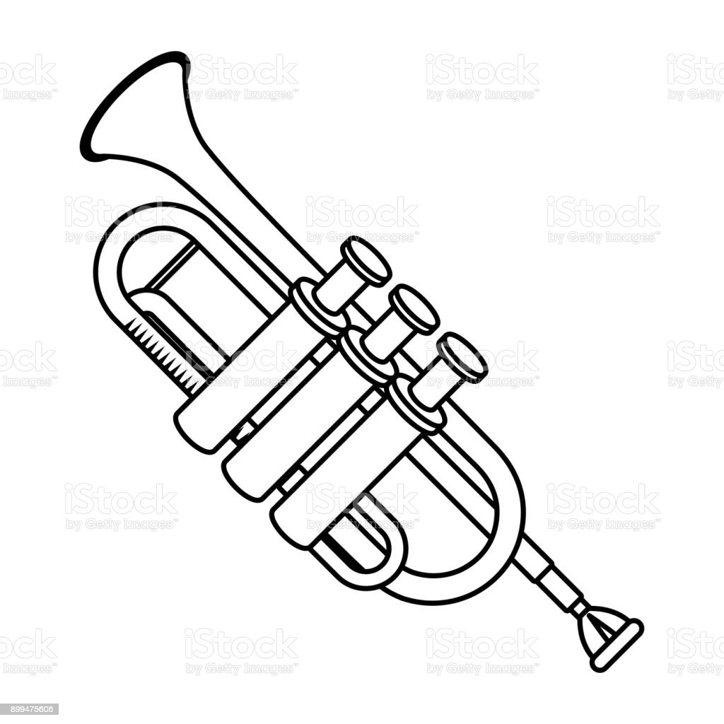 Trumpet Music Instrument Stock Illustration - Download Image Now