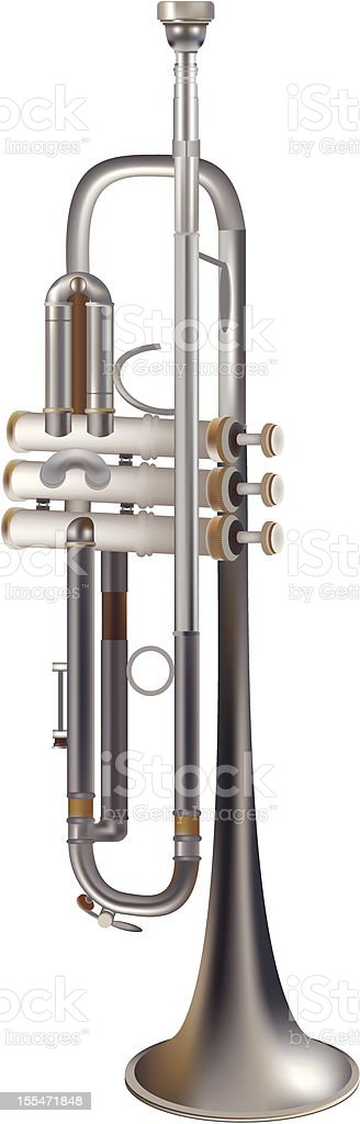 trumpet, musical instrument royalty-free stock vector art