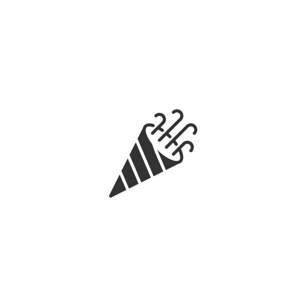 trompete-übersicht-vektor-symbol - fanfare stock-grafiken, -clipart, -cartoons und -symbole