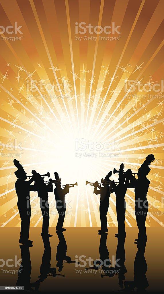 Trompete Spieler Hintergrund-Blaskapelle – Vektorgrafik