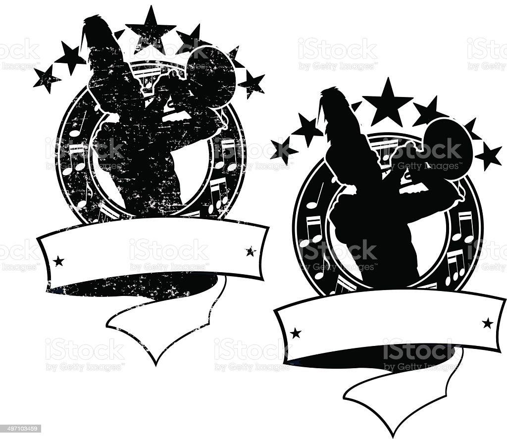 Trompete-Spieler-Symbol – Vektorgrafik