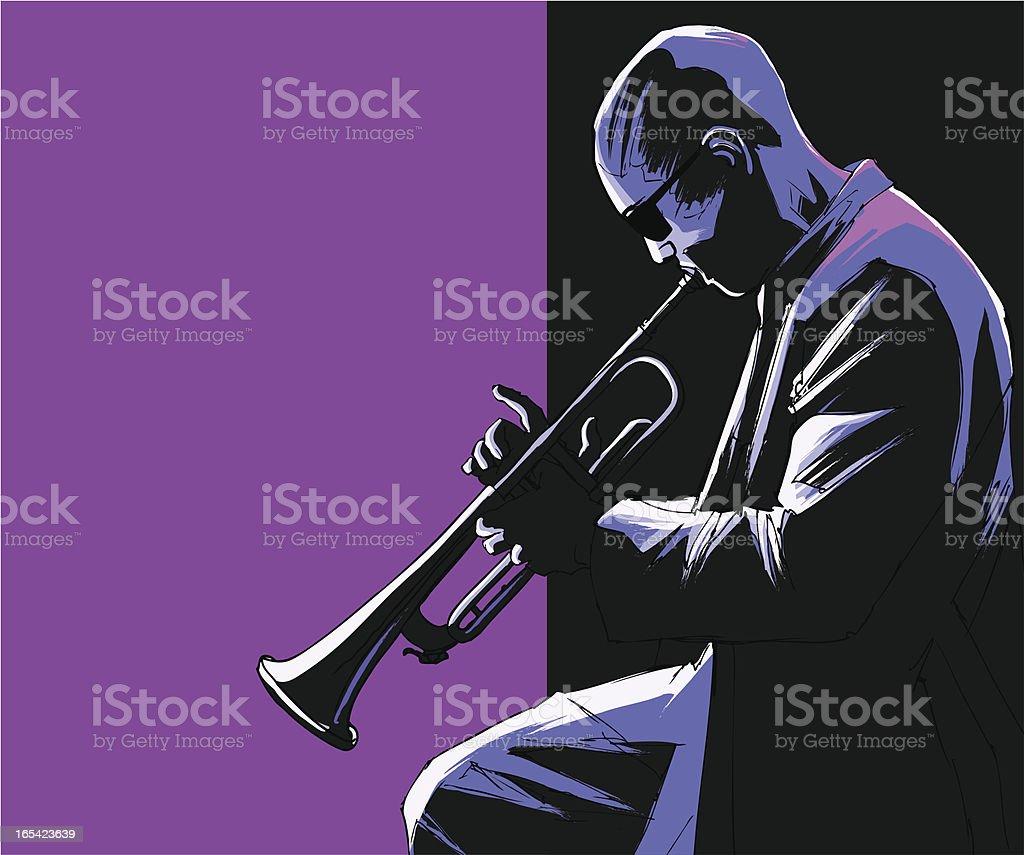 trumpet player vektör sanat illüstrasyonu
