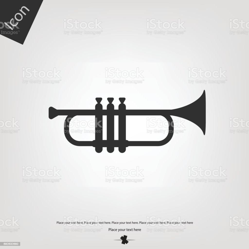 Trumpet vector icon vector art illustration