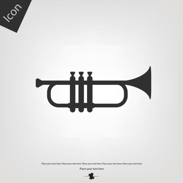 Trumpet vector icon vector art illustration