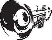 Illustrated trumpet