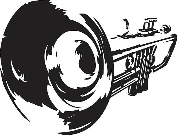 stockillustraties, clipart, cartoons en iconen met trumpet - trompet