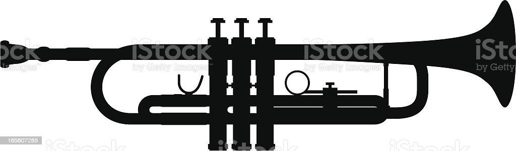 Trumpet royalty-free stock vector art