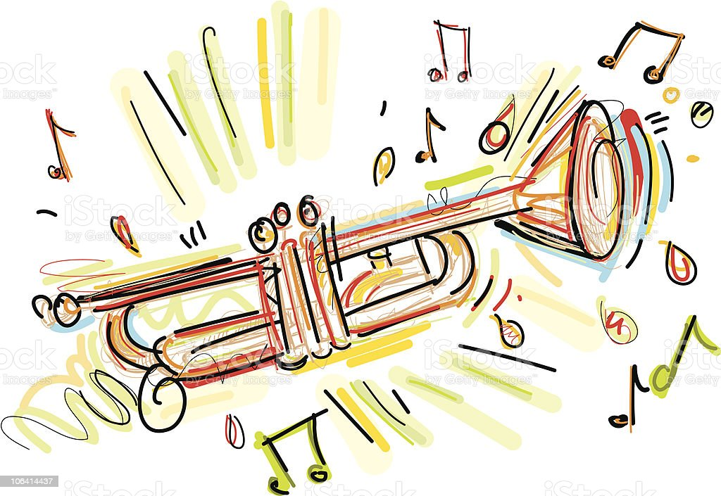 trumpet wildstyle vector art illustration