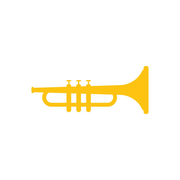 Trumpet yellow graphic design template vector illustration vector art illustration