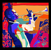 istock Trumpeter playing. Jazz trumpet player 1226704309