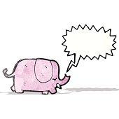 trumpeting elephant cartoon