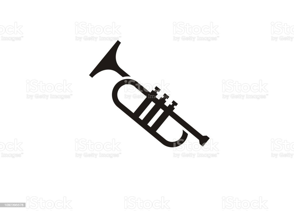 Trumpetmusic Tool Simple Icon Stock Illustration - Download