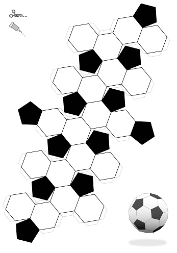 Exceptional image in printable soccer ball template