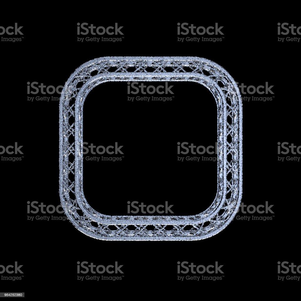 Traversen Rahmen In Form Des Quadrats Auf Schwarzem Hintergrund ...