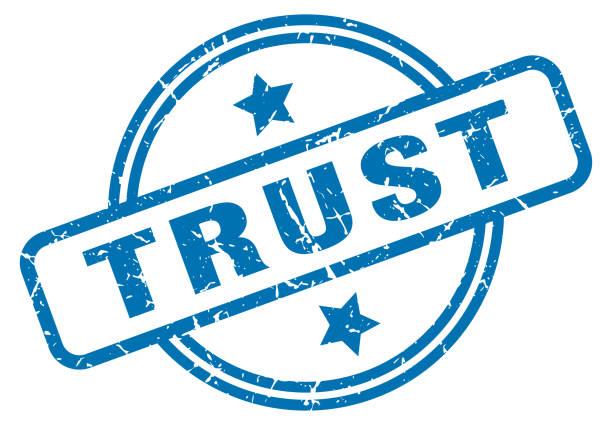 vertrauensgrunge - trust stock-grafiken, -clipart, -cartoons und -symbole