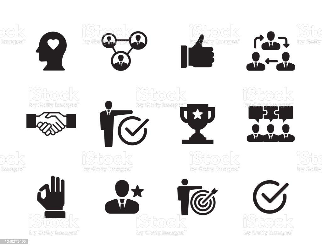 Vertrauen-Icon-Set - Lizenzfrei Broschüre Vektorgrafik