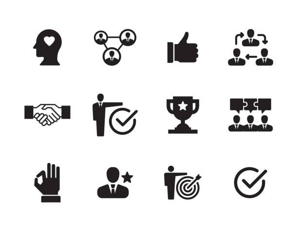 vertrauen-icon-set - trust stock-grafiken, -clipart, -cartoons und -symbole