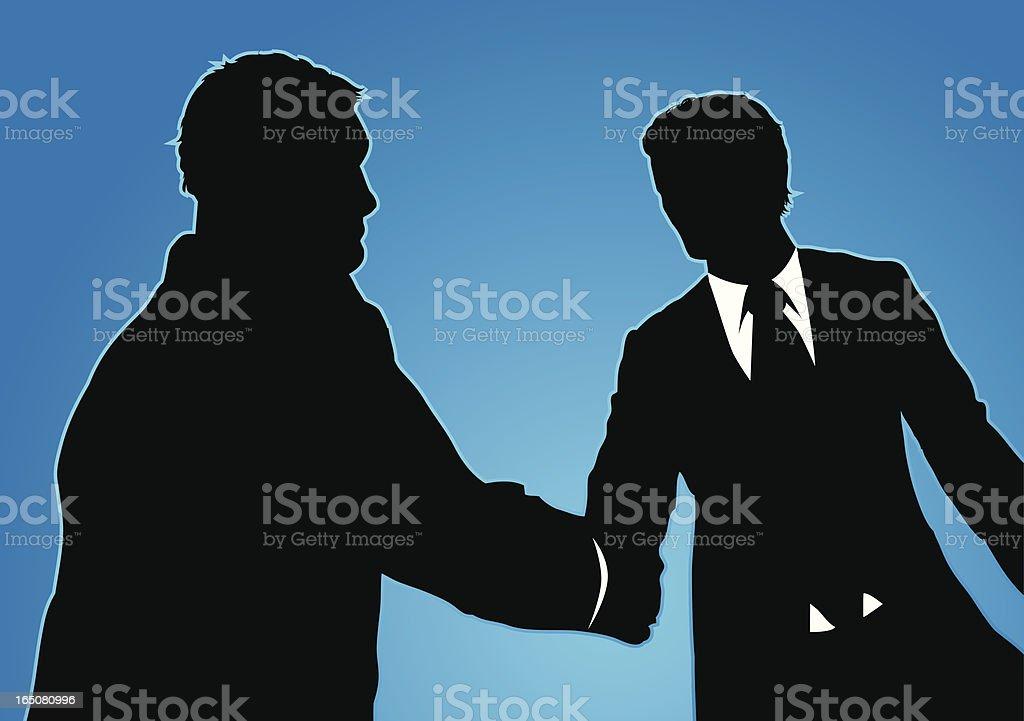 Trust in business. vector art illustration