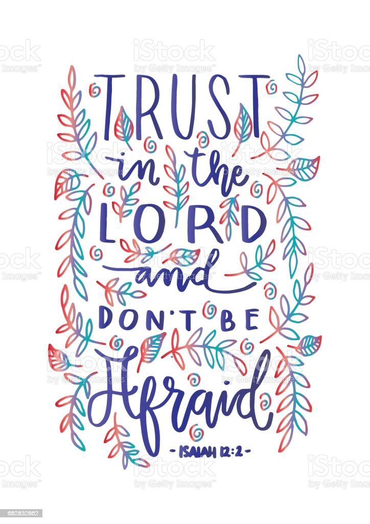 Trust In The Lord vector art illustration
