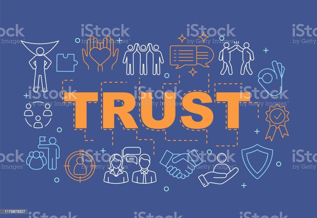 Vertrauenswortkonzepte Banner - Lizenzfrei Baugewerbe Vektorgrafik