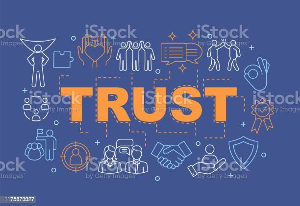 Vertrauenswortkonzepte Banner Stock Vektor Art und mehr Bilder von Baugewerbe
