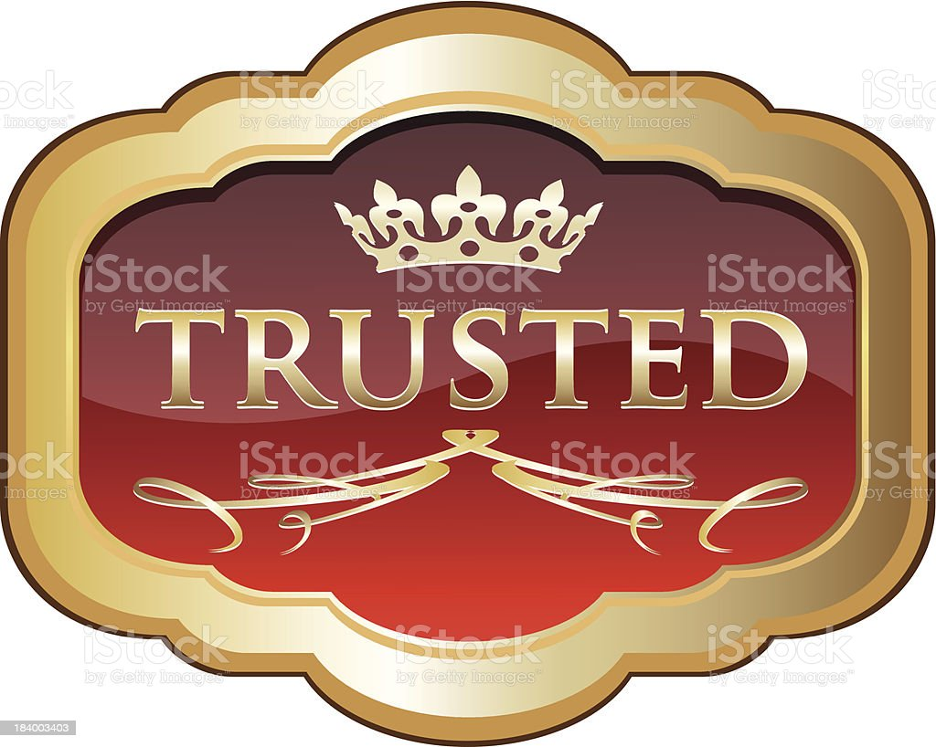 Trusted Red Label Award royalty-free stock vector art