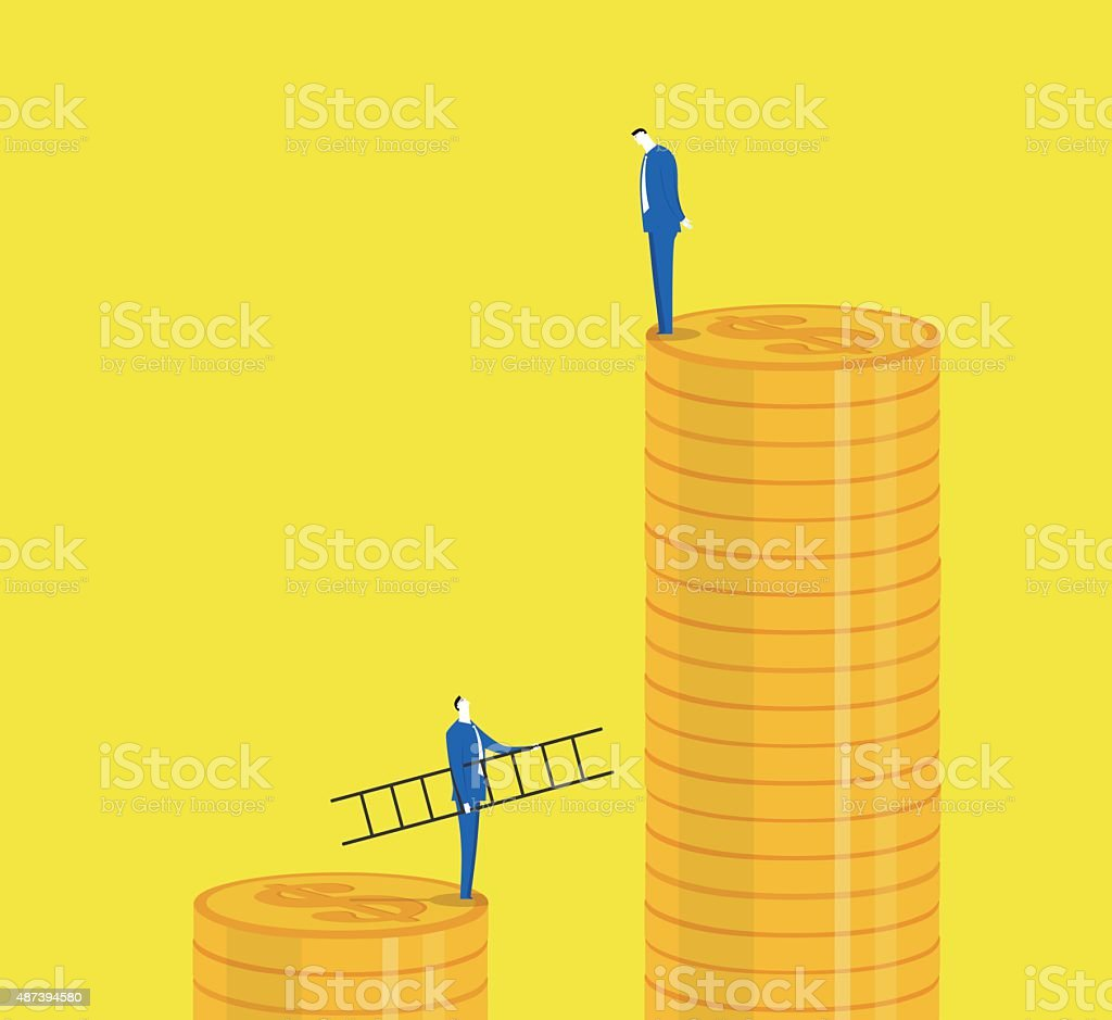 Trying to make more more money vector art illustration
