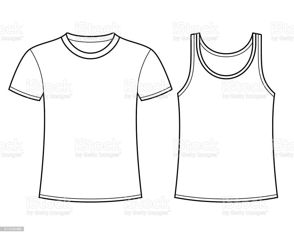Tshirt Und Shirt Vorlage Stock Vektor Art und mehr Bilder von ...