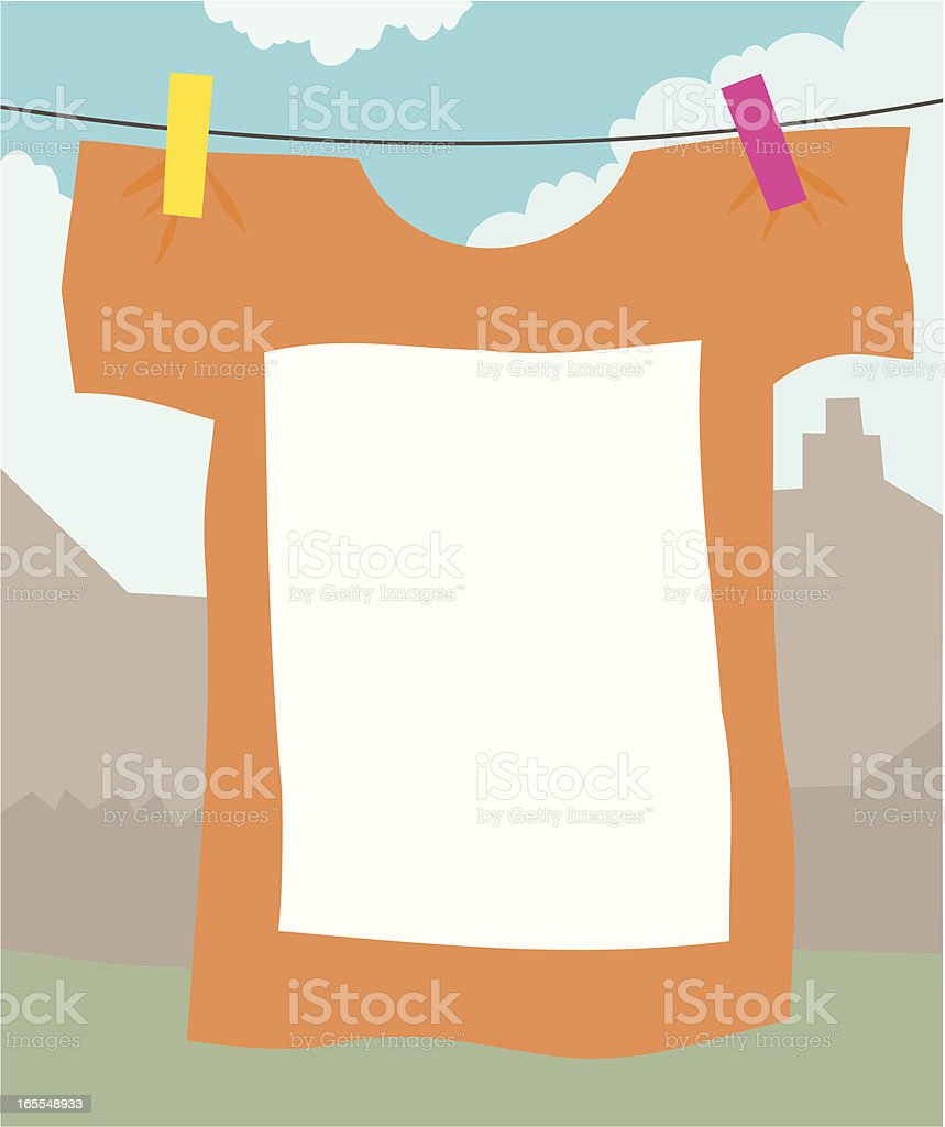 T-Shirt Banner royalty-free stock vector art