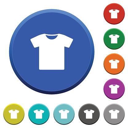 T-shirt beveled buttons
