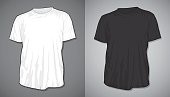 Blank t-shirts black and white