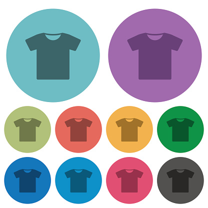 T-shirt color darker flat icons