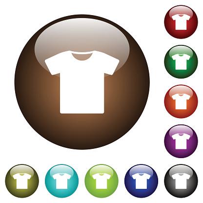 T-shirt color glass buttons