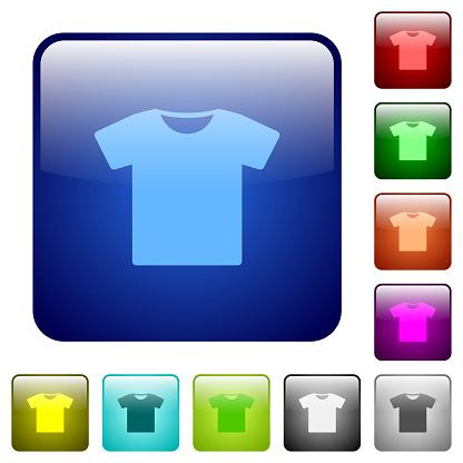 T-shirt color square buttons
