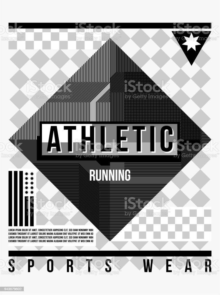 Tshirt Und Typografie Sportbekleidung Sportlich Design Würfelform 84Yrq8