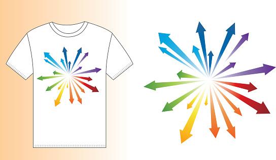 T-shirt design (Blast arrow)