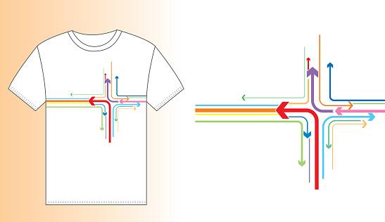 T-shirt design (Arrows pattern)