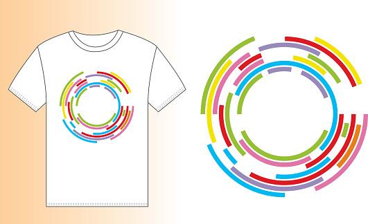 T-shirt design (colorful rings)