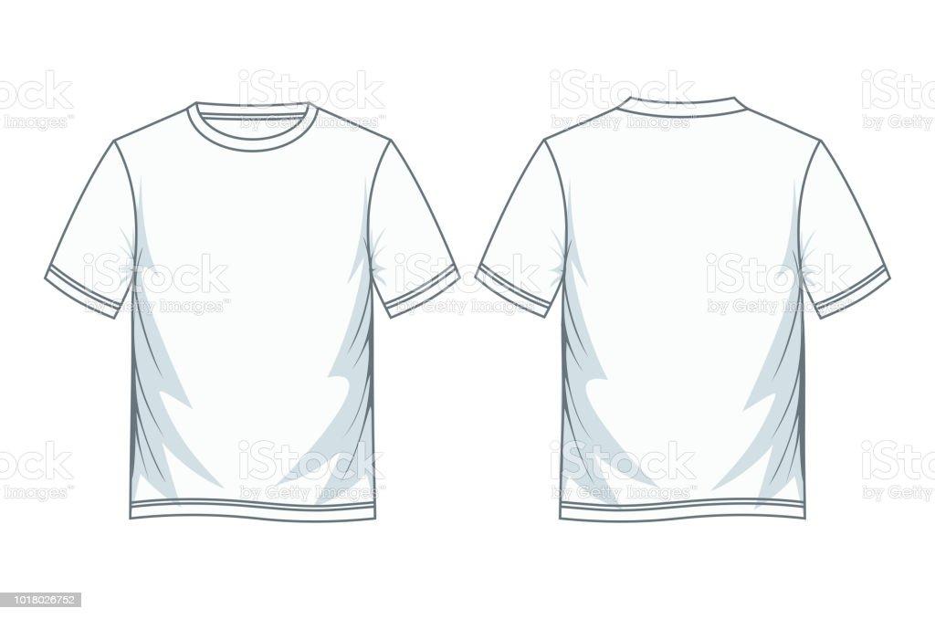 Tshirt Design Color White Template E Immagini Vettoriali Stock Y29DEHIW