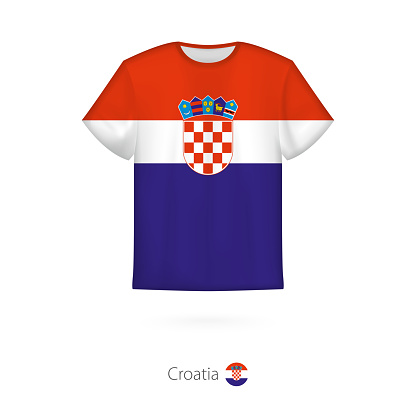 T-shirt design with flag of Croatia.