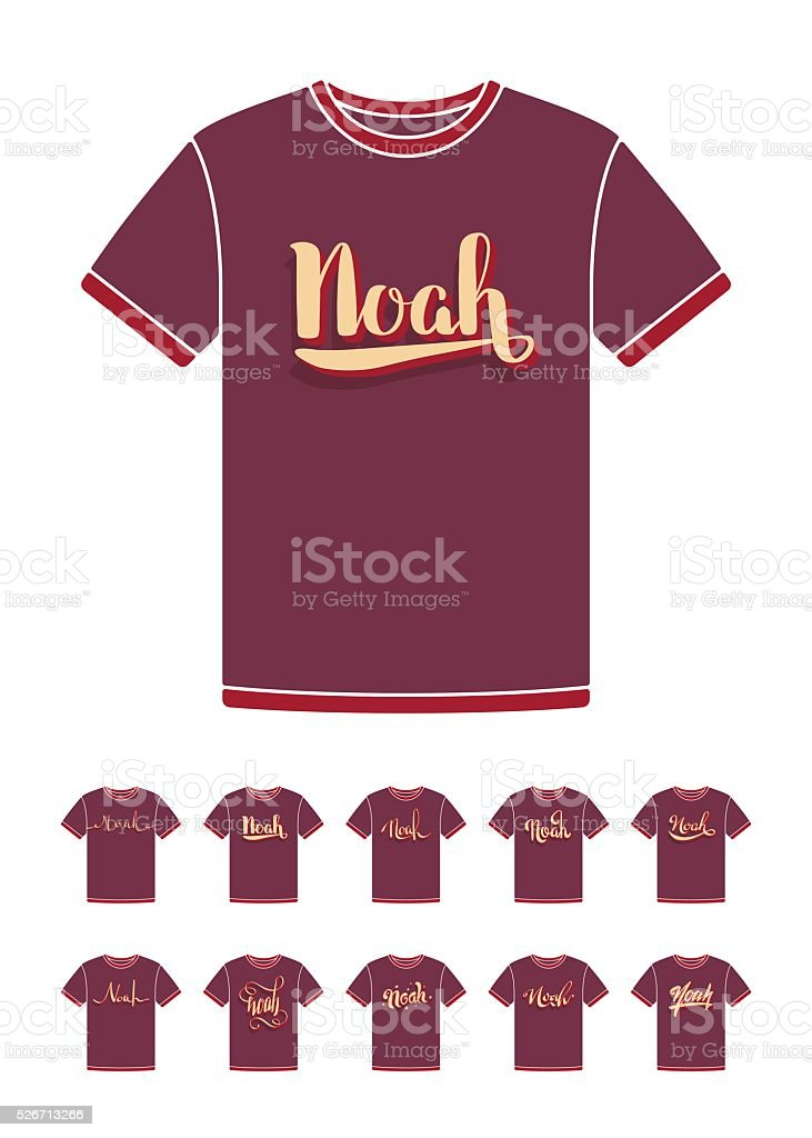 d3be5c6d4d995 T-Shirt design with the personal name Noah royalty-free tshirt design with  the