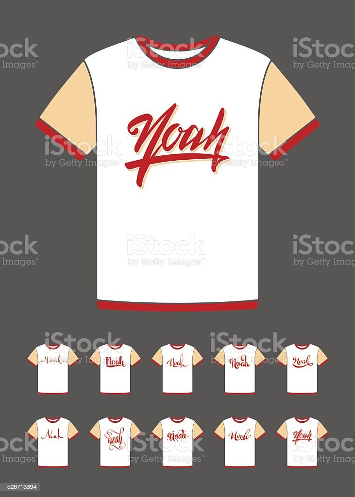 c89c72b1 T-Shirt design with the personal name Noah royalty-free tshirt design with  the