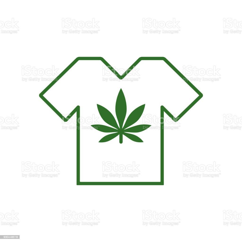 T-shirt designs with Cannabis motifs. T-shirt with marijuana leaf. Tee shirt template. vector art illustration