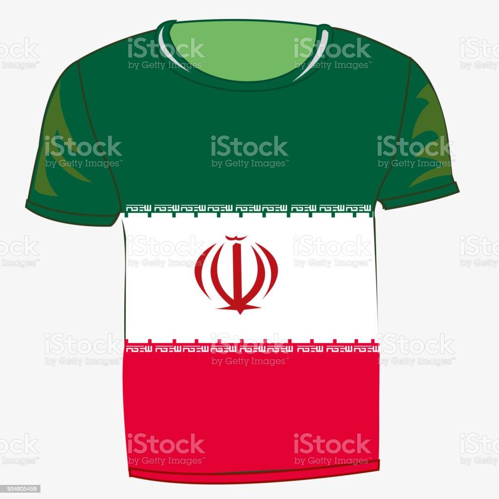 Bandera camiseta Irán - arte vectorial de Aislante libre de derechos