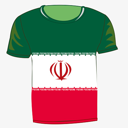 Ilustración de Bandera Camiseta Irán y más Vectores Libres de Derechos de Aislante