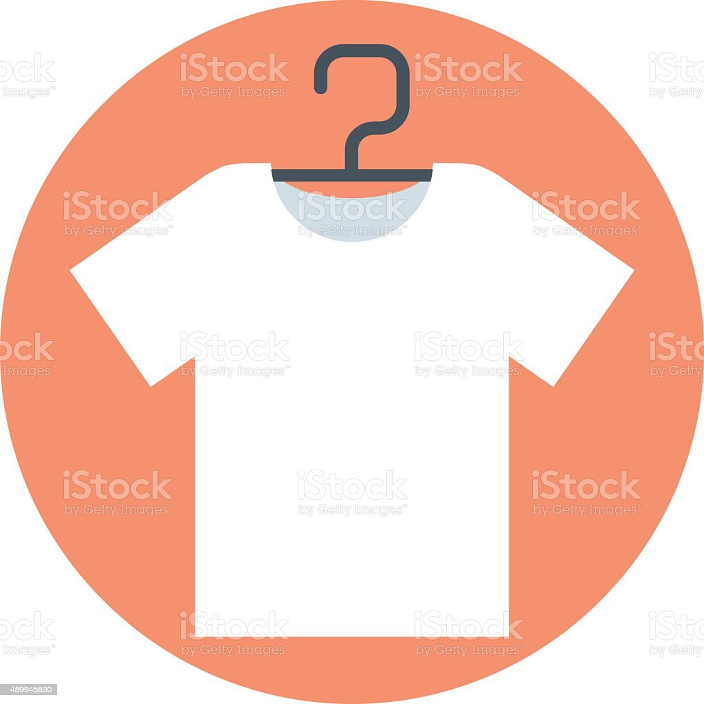 T-shirt, flat style, colorful, vector icon for info graphics, we vector art illustration