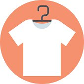 T-shirt, flat style, colorful, vector icon for info graphics, we