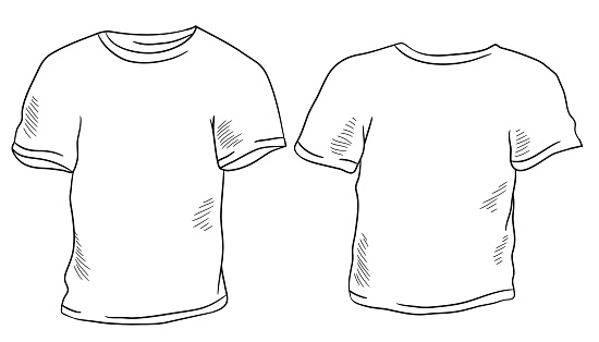 T-shirt graphic black white isolated sketch illustration vector