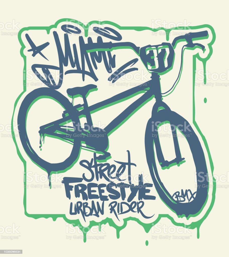 T-shirt Graphics. Extreme bike street style design